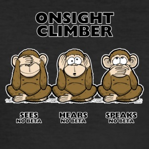 On Sight climber - tre scimmie sagge - Maglietta aderente da uomo