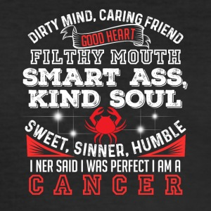 Dirty Mind Cancer - Herre Slim Fit T-Shirt