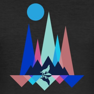 Mountain Wolf Polygon - Men's Slim Fit T-Shirt