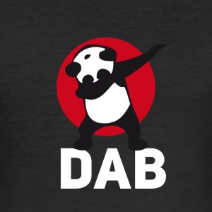 dab panda tamponnant touché juste tamponner le football r - Tee shirt près du corps Homme