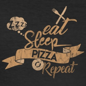 EAT SLEEP PIZZA REPEAT - Männer Slim Fit T-Shirt