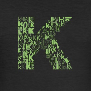 Font Fashion K - Men's Slim Fit T-Shirt