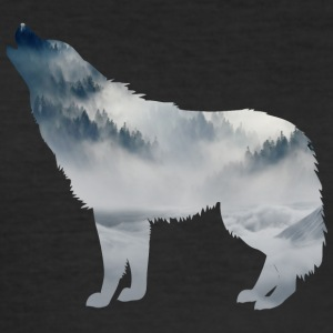 Wolf silhouette - Men's Slim Fit T-Shirt