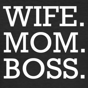 WIFE MOM BOSS WMB - Herre Slim Fit T-Shirt
