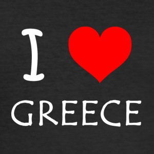 I Love Greece - Men's Slim Fit T-Shirt