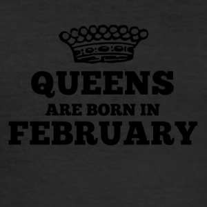 Queens are born in february - Men's Slim Fit T-Shirt