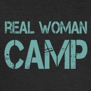 REAL WOMAN CAMP - Men's Slim Fit T-Shirt