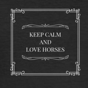 Horse love - Men's Slim Fit T-Shirt