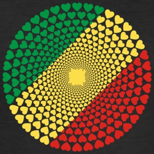 Congo Love Heart Mandala - Herre Slim Fit T-Shirt