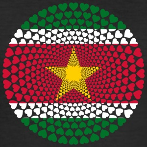 Surinam Surinam sranan Love Heart Mandala - Herre Slim Fit T-Shirt