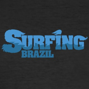 BRASILIEN Surfing Water Country - Herre Slim Fit T-Shirt