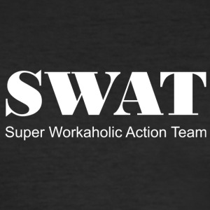 Swat white - Men's Slim Fit T-Shirt