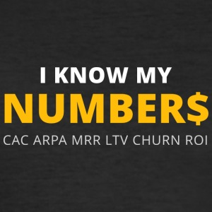 I know my numbers - Männer Slim Fit T-Shirt