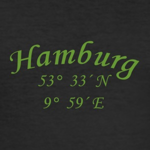 koordinater Hamburg - Slim Fit T-skjorte for menn