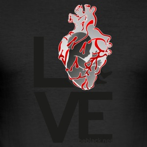 Humanheart_LOVE - Slim Fit T-skjorte for menn
