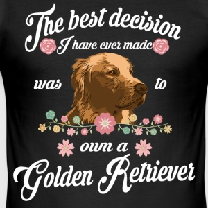 Golden Retriever - Slim Fit T-shirt herr