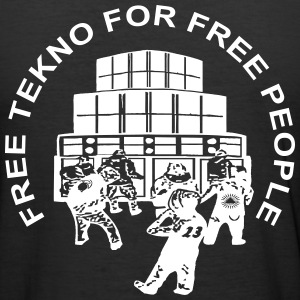 free tekno for free people - Männer Slim Fit T-Shirt