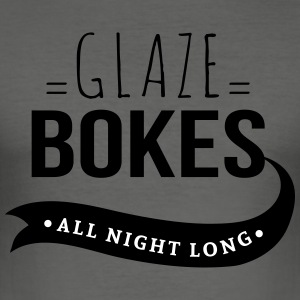Bokes glasur, All night long - Slim Fit T-skjorte for menn