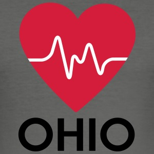 hjerte Ohio - Herre Slim Fit T-Shirt