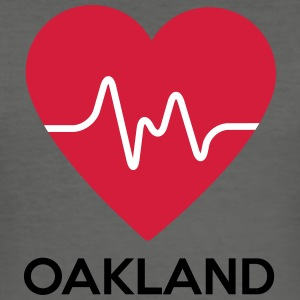 heart Oakland - Men's Slim Fit T-Shirt