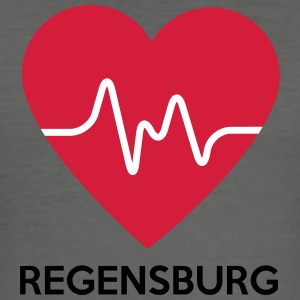 heart Regensburg - Men's Slim Fit T-Shirt