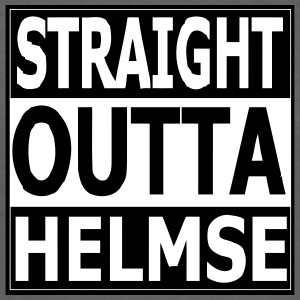 rak outta helmse - Slim Fit T-shirt herr