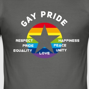 gay_star Pride asterisk love Respect proud cs - Men's Slim Fit T-Shirt