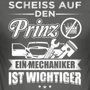 mechaniker SCHEISS PRINZ - Männer Slim Fit T-Shirt