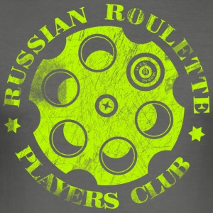 Russian Roulette Players Club Neon Vintage - Slim Fit T-skjorte for menn