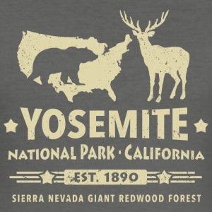 Yosemite National Park Californien Bjørn Redwood - Herre Slim Fit T-Shirt