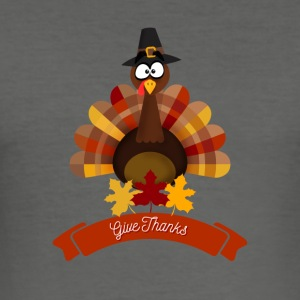 Thanksgiving De gelukkige Dag van Turkije - Happy Thanksgiving - slim fit T-shirt