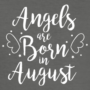 Angels are born in August - Men's Slim Fit T-Shirt