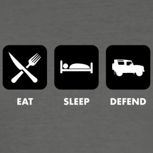 Eat, Sleep & Defend - Tee shirt près du corps Homme