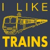I like trains - Men's Slim Fit T-Shirt