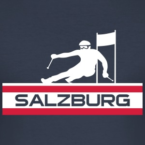 Ski Alpin_Salzburg - Herre Slim Fit T-Shirt