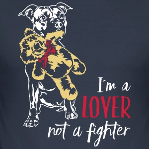 LOVER NOT A FIGHTER - Staffordshire - Men's Slim Fit T-Shirt