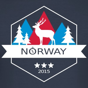 Norwegen - Männer Slim Fit T-Shirt