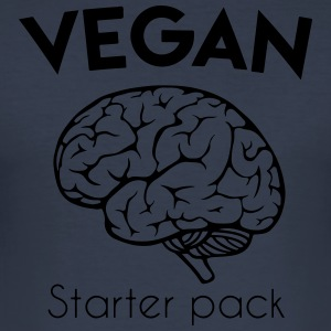 Vegan starter pack - a brain - Men's Slim Fit T-Shirt