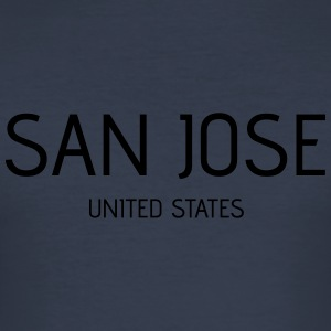 San Jose - Männer Slim Fit T-Shirt