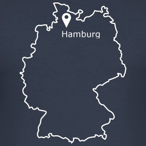 Place to be: Hamburg - slim fit T-shirt