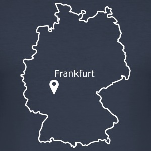 place to be: Frankfurt - Männer Slim Fit T-Shirt