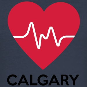heart Calgary - Men's Slim Fit T-Shirt