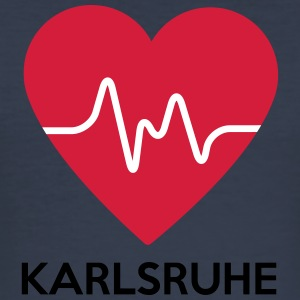 Heart Karlsruhe - Men's Slim Fit T-Shirt