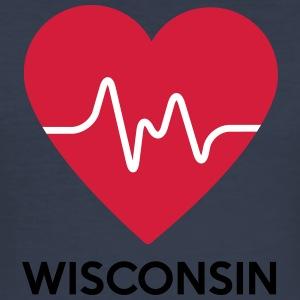 heart Wisconsin - Men's Slim Fit T-Shirt