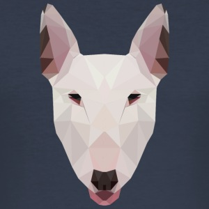 Norsk Bull Terrier Artwork - Slim Fit T-skjorte for menn