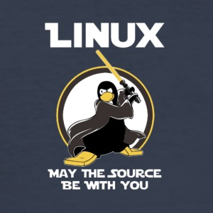 may_the_linux_source - Camiseta ajustada hombre