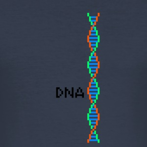 Pixel-DNA - Männer Slim Fit T-Shirt