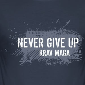 never give up - Men's Slim Fit T-Shirt