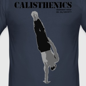 Calisthenics en arm HANDSTAND - Slim Fit T-skjorte for menn