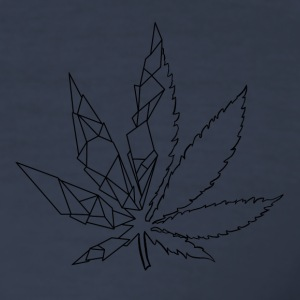 stilisert cannabis blad - Slim Fit T-skjorte for menn